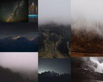 黑夜風景拍攝高清圖片
