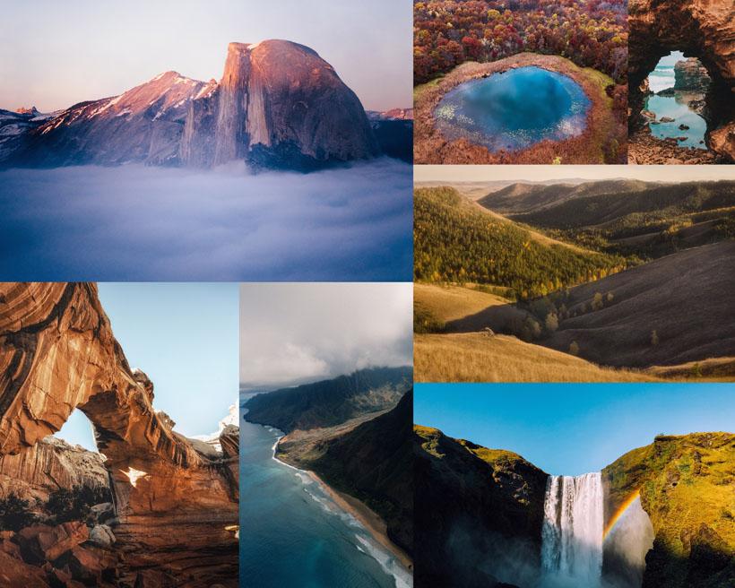 山水美麗風光拍攝高清圖片
