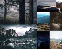 树木山峰石头风景拍摄高清图片