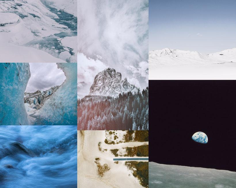 雪山風光景色拍攝高清圖片