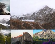 山峰雪山風光拍攝高清圖片
