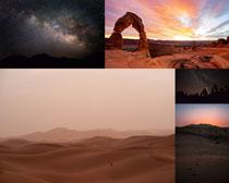 沙漠与星空风景拍摄高清图片