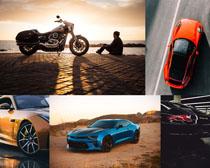 汽车摩托车交通工具摄影高清图片