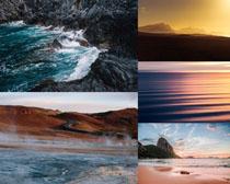 夕陽風景大海寫真攝影高清圖片