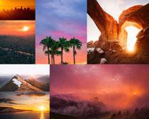 夕陽景色風光拍攝高清圖片