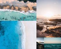 大海海灘風光攝影高清圖片