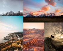 雪山火山风景拍摄高清图片
