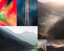 自然山水風景拍攝高清圖片