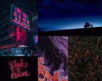 夜色燈光建筑拍攝高清圖片