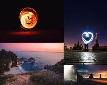 夢幻娛樂園大海攝影高清圖片