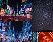 街道城市建筑夜景风光高清图片