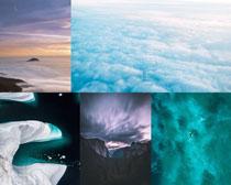 云層山峰景色拍攝高清圖片
