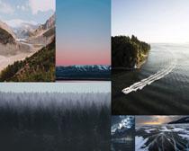湖泊树木景色摄影高清图片
