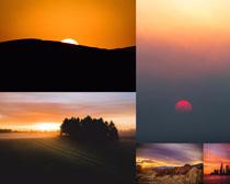 夕阳自然风光拍摄高清图片