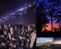 樹木建筑風光拍攝高清圖片