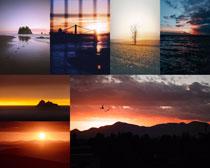 夕陽美麗景色拍攝高清圖片
