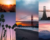 桥梁风景天空摄影高清图片