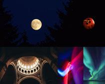 月亮夜色風景攝影高清圖片