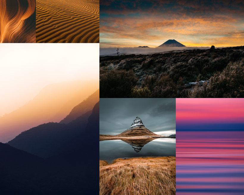 夕陽湖泊美麗風光攝影高清圖片