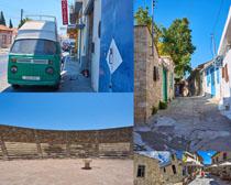 欧美小镇建筑风景摄影高清图片