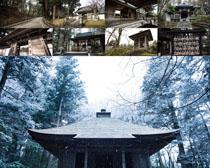 古代木屋建筑风景摄影高清图片