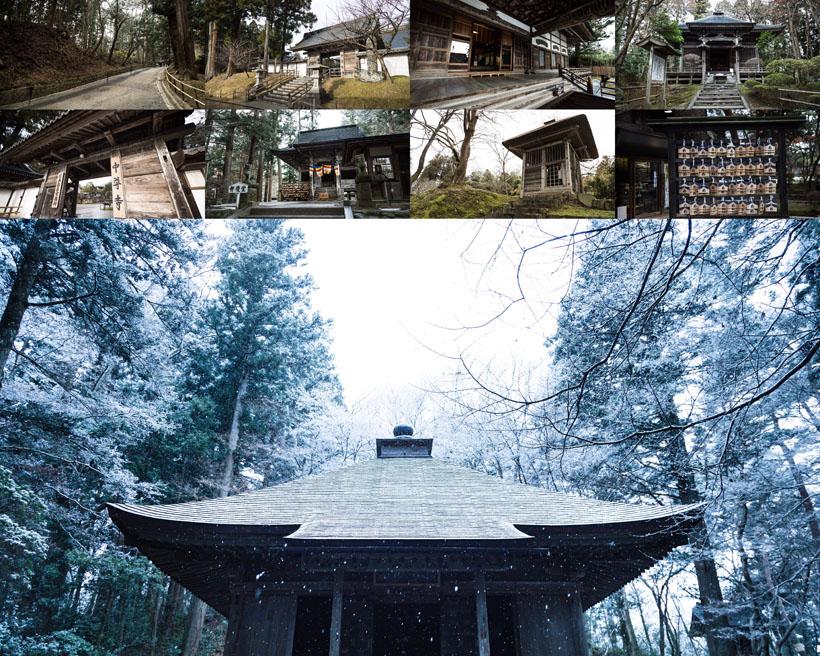 古代木屋建筑風景攝影高清圖片