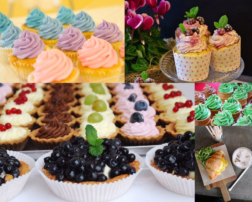 水果甜品蛋糕攝影高清圖片