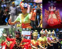 泰國美女舞蹈攝影高清圖片