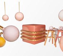 灯泡装饰台PSD素材