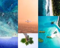 蓝色海岛美丽风景拍摄高清图片