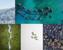 海洋森林美麗風光攝影高清圖片