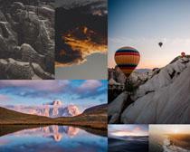 雪山天空風景攝影高清圖片