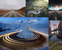 風景道路景觀攝影高清圖片