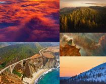 樹林山川天空攝影高清圖片