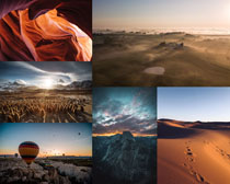 沙漠荒島景觀攝影高清圖片