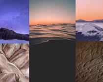雪山沙漠風景寫真拍攝高清圖片