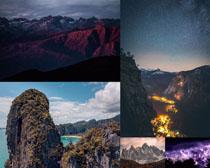 高山天空景色攝影高清圖片