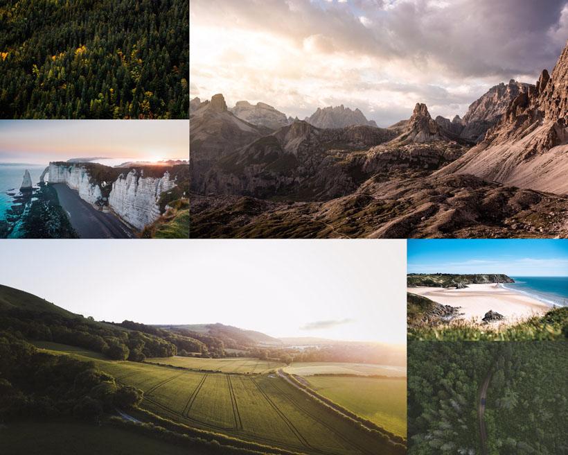 高山云朵自然風景攝影高清圖片
