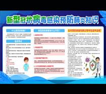 预防肺炎知识宣传栏设计PSD素材