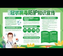 冠状病毒防护知识小区宣传栏PSD素材