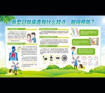 新型冠状病毒肺炎如何预防宣传栏PSD素材
