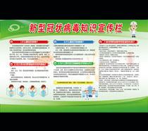 新型冠状病毒知识宣传栏模板PSD素材