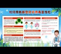 如何预防新型冠状病毒宣传栏PSD素材