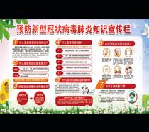 预防新型肺炎知识宣传栏广告PSD素材