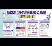 抗击新型肺炎宣传展示模板PSD素材