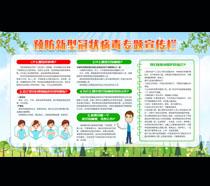 预防新型冠状病毒专题宣传栏PSD素材
