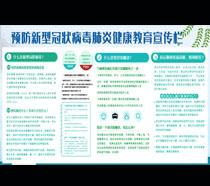 冠状病毒肺炎健康教育宣传栏PSD素材