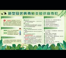 冠状病毒知识宣传展示栏PSD素材