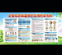 新型冠状病毒预防知识宣传栏PSD素材