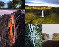 山川瀑布景色風景攝影高清圖片